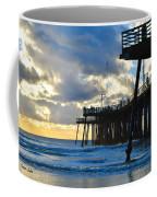 Sunset At Pismo Pier Coffee Mug