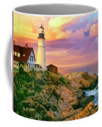 Sunset At Portland Head Coffee Mug