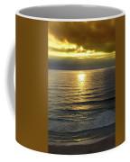 Sunset At Praia Pequena, Small Beach In Sintra Portugal Coffee Mug