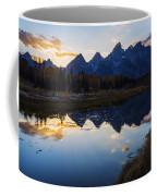Sunset At Schwabacher Landing In Gtnp Coffee Mug
