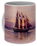 Sunset At Sea Coffee Mug