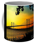 Sunset At The Delaware Memorial Bridge Coffee Mug
