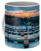 Sunset At The Marina In Winter Coffee Mug