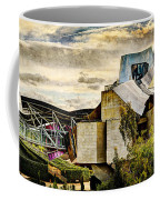sunset at the marques de riscal Hotel - frank gehry - vintage version Coffee Mug