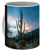 Sunset Beyond The Cacti Coffee Mug