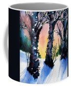 Sunset Birches On The Rise Coffee Mug