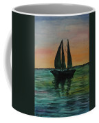 Sunset Boat 2 Coffee Mug