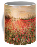 Sunset By The Poppy Fields Coffee Mug