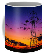 Sunset By The Wires Coffee Mug