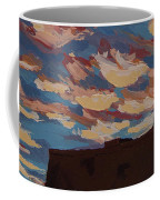 Sunset Clouds Over Santa Fe Coffee Mug by Erin Fickert-Rowland