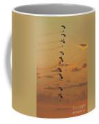 Sunset Falcons Stack Formation Coffee Mug