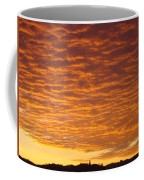 Sunset Fiery Orange Sunset Art Prints Sky Clouds Giclee Baslee Troutman Coffee Mug