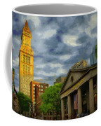 Sunset Gleam Of Custom House Tower Coffee Mug