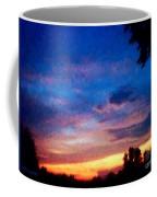 Sunset In A Deep Blue Sky Line Coffee Mug