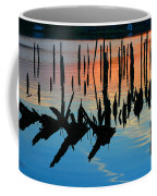 Sunset In Colonial Beach Virginia Coffee Mug