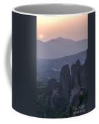 Sunset In Meteora Coffee Mug