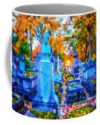 Sunset In Pere Lachaise Abstraction Coffee Mug