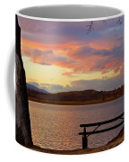 Sunset Lake Picnic Table View  Coffee Mug