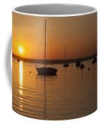 Sunset Newport Boats Coffee Mug