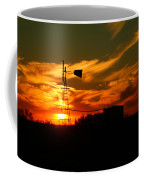 Sunset On A Windmill Jal New Mexico Coffee Mug