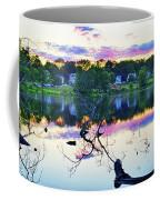 Sunset On Kenoza Lake Haverhill Ma Reflection Coffee Mug