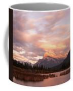 Sunset On Mount Rundle Coffee Mug