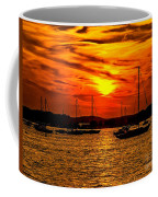 Sunset On Muskegon Lake Coffee Mug