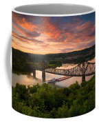 Sunset On Ohio River  Coffee Mug