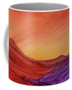 Sunset On Red And Purple Hills Coffee Mug