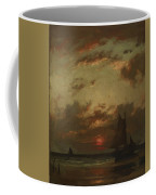 Sunset On The Coast 1870 Coffee Mug