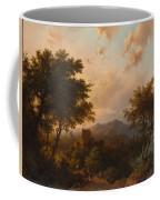 Sunset On The Rhine , Barend Cornelis Koekkoek Coffee Mug
