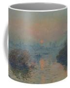 Sunset On The Seine At Lavacourt, Winter Effect Coffee Mug
