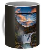 Sunset On The Upper Falls Coffee Mug