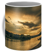 Sunset On The Willamette River Coffee Mug