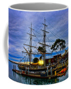 Sunset Over A Tall Ship Coffee Mug