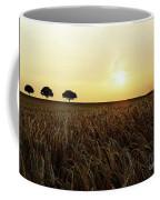 Sunset Over Cornfield Coffee Mug