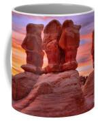 Sunset Over Devils Garden Coffee Mug