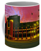Sunset Over Lambeau Field Coffee Mug