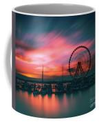 Sunset Over National Harbor Ferris Wheel Coffee Mug