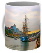 Sunset Over River  Liffey 2 Coffee Mug