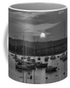 Sunset Over Salem Harbor Salem Beverly Bridge Black And White Coffee Mug