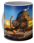 Sunset Over The Adler Planetarium Chicago Coffee Mug