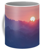 Sunset Over The Alps Coffee Mug