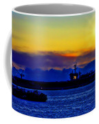 Sunset Over The Carl Vinson Coffee Mug