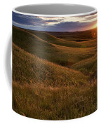 Sunset Over The Kansas Prairie Coffee Mug by Jim Richardson