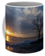 Sunset Over The Mississippi In Wisconsin Coffee Mug