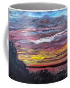 Sunset Over The Mississippi Coffee Mug