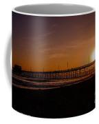 Sunset Over The Newport Beach Pier Coffee Mug