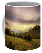 Sunset Over The Ruins Of Spis Castle In Slovakia Coffee Mug