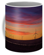 Sunset Over Windmills Field Coffee Mug